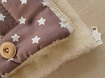 Textil - Merino Blankets 75 x 105 cm brown stars - 5939592_