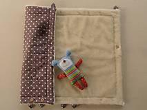Textil - Merino Blankets 75 x 105 cm brown stars - 5939593_