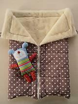 Textil - Merino Blankets 75 x 105 cm brown stars - 5939595_