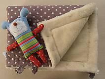 Textil - Merino Blankets 75 x 105 cm brown stars - 5939629_