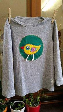 Tričká - Pískacie tričko s vtáčikom - 5939013_
