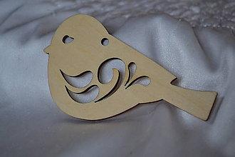 Polotovary - ❄️Drevený výrez vtáčik, 85mm, z 0.70 na 0.35€/ks - 5935702_