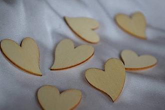 Polotovary - ❄️Drevený výrez srdce, 27x23mm, z 0.16 na 0.08€/ks - 5935887_