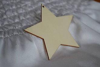 Polotovary - ❄️Drevený výrez hviezda, 70mm, z 0.40 na 0.20€/ks - 5936504_