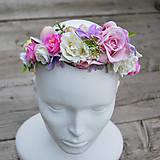 Čelenka,parta-ruže a hortenzia