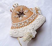 Dekorácie - Medovníkový Zvonček - biele zdobenie - 5940483_