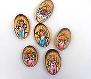 - Ručne maľované drevené ozdôbky. Anielikovia - 5942729_