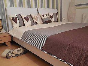 Úžitkový textil - prehoz na posteľ - čokoládovo - smotanová - 5943319_