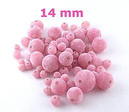 Korálky - Zamatky - Ružové /14mm - 5940759_
