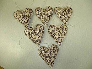 Dekorácie - Ornament srdce - 5940680_