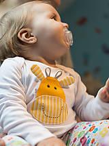 Detské oblečenie - body ŽIRAFKA (dlhý/krátky rukáv) - 5943550_