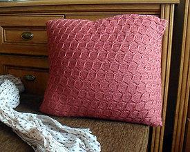 Úžitkový textil - Vankúš pletený zľava - 5942207_