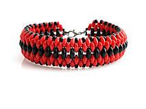 Náramky - Červeno čierny - 5941763_