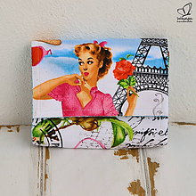 Peňaženky - Peňaženka-biely Paríž - 5942475_