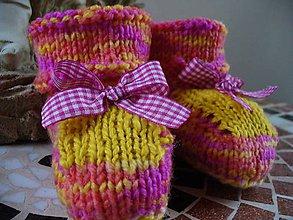 Topánočky - Kockovaný sníček, bábopapučky - 5943680_