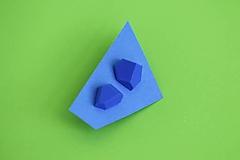 Náušnice - Geometrické náušnice   minimal arch   electric blue - 5943771_