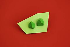 Náušnice - Geometrické náušnice | minimal arch | light green - 5943779_