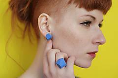 Prstene - Geometrický nastaviteľný prsteň   minimal arch   turquoise - 5943797_