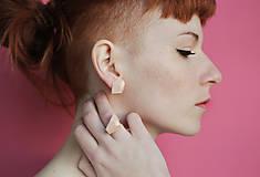 Náušnice - Geometrické náušnice | minimal arch | nude pink - 5946391_