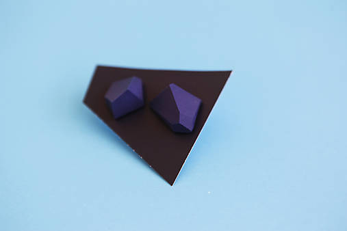 Geometrické náušnice   minimal arch   dark blue