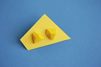 Náušnice - Geometrické náušnice   minimal arch   yellow - 5943777_
