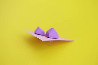 Náušnice - Geometrické náušnice   minimal arch   lavender - 5943787_