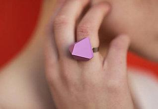 Prstene - Geometrický nastaviteľný prsteň   minimal arch   lavender - 5943796_