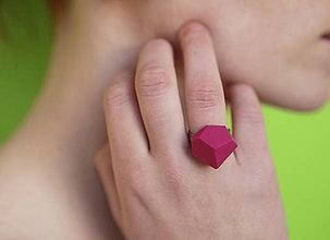 Prstene - Geometrický nastaviteľný prsteň   minimal arch   purpur - 5943803_