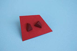 Náušnice - Astoria earrings burgundy - 5945362_