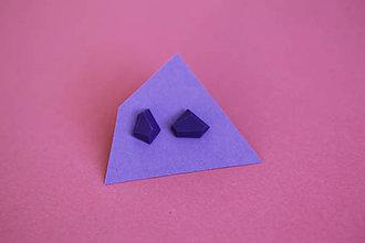 Náušnice - Geometrické náušnice | minimal arch | violet - 5945439_