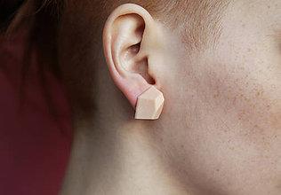 Náušnice - Geometrické náušnice | minimal arch | nude pink - 5946389_