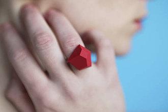 Prstene - Astoria ring bloody red - 5946431_