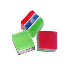 Korálky - Živicová kocka, v strede modrá /5ks - 5946464_