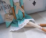 Bábiky - Tyrkysovohnedá so srdiečkom - 5944275_