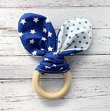 Hračky - Drevené hryzátko pre bábätko Hviezdne nebo - 5946015_