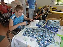 Úžitkový textil - Nezábudka: Pohánkový nahrievací vankúšik Macko - 5944211_