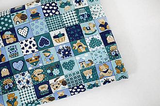 Úžitkový textil - Nezábudka: Pohánkový nahrievací vankúšik Macko - 5944212_