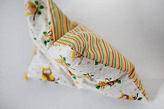 Úžitkový textil - Nezábudka: Pohánkový nahrievací vankúšik Sovička - 5946109_