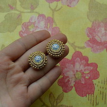 Náušnice - Golden baldachins - 5944352_
