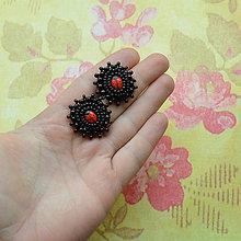 Náušnice - Ladybugs - vyšívané puzetky - 5944413_