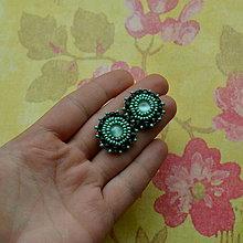 Náušnice - Green  baldachins - 5944420_