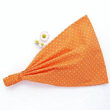 Ozdoby do vlasov - Oranžové bodky - 5947192_