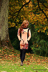 Šaty - Šaty úpletové s vreckami, farbené a maľované VÔŇA ZEME - 5944314_