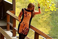 Šaty - Šaty úpletové s vreckami, farbené a maľované VÔŇA ZEME - 5944321_