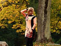 Šaty - Šaty úpletové s vreckami, farbené a maľované VÔŇA ZEME - 5944325_