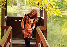 Šaty - Šaty úpletové s vreckami, farbené a maľované VÔŇA ZEME - 5944328_