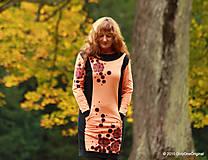 Šaty - Šaty úpletové s vreckami, farbené a maľované VÔŇA ZEME - 5944340_