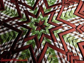Dekorácie - dekorácia patchwork hviezdica / 36cm - 5945878_