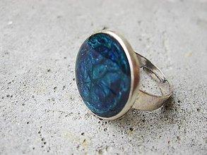Prstene - Prsteň väčší guľatý (Modrý prsteň č.1461 - Akcia) - 5944729_