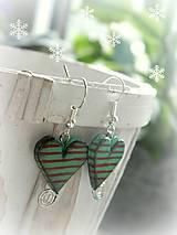 Náušnice - Milujem Vianoce - 5944323_